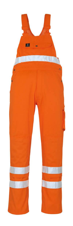 00469-860-14 Avosuoja polvitaskuilla - hi-vis oranssi