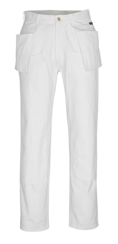 00538-630-06 Housut polvi- ja riipputaskuilla - valkoinen