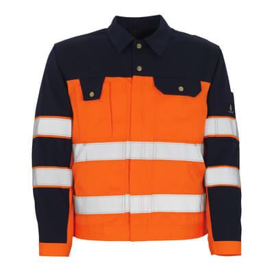 00909-860-141 Takki - hi-vis oranssi/tummansininen