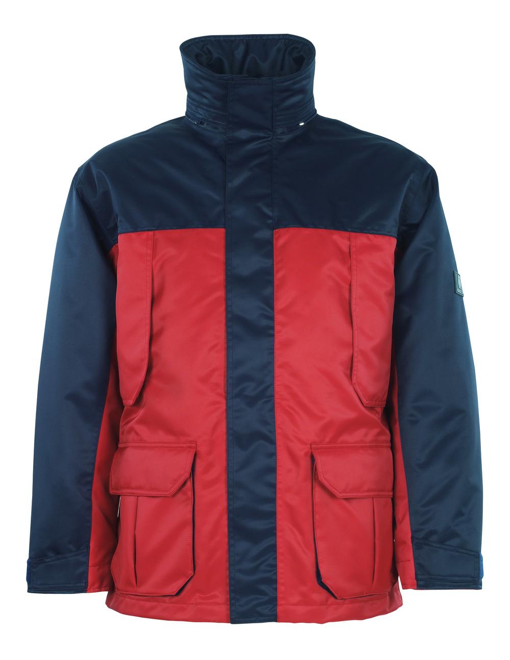 00930-650-21 Parkatakki - punainen/tummansininen