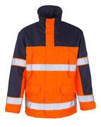 00930-880-141 Parkatakki - hi-vis oranssi/tummansininen