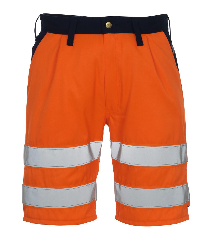 00949-860-141 Shortsit - hi-vis oranssi/tummansininen