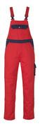 00969-430-21 Avosuoja polvitaskuilla - punainen/tummansininen