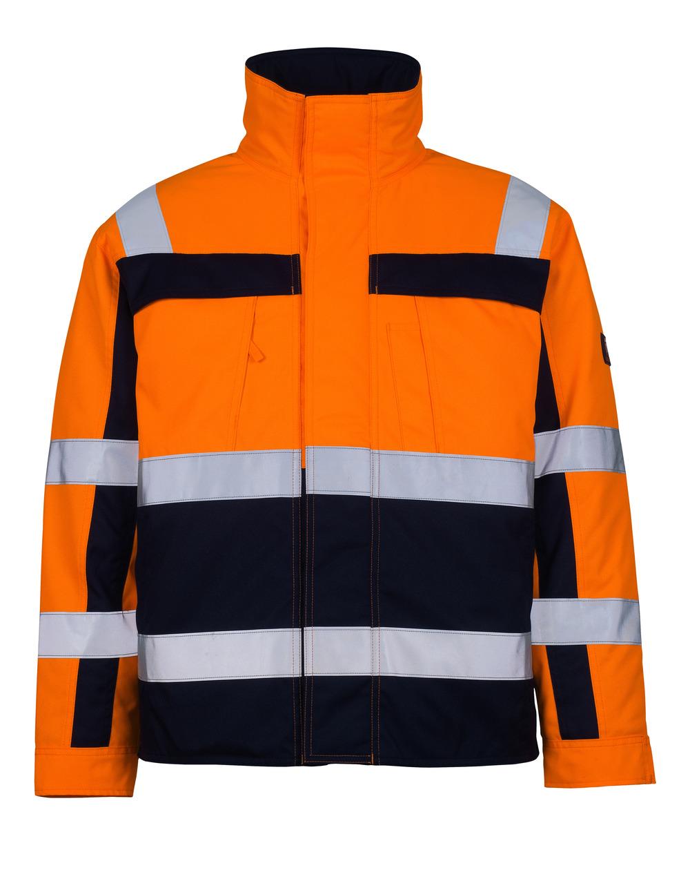 07123-126-141 Pilottitakki - hi-vis oranssi/tummansininen