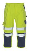 07149-470-171 ¾-housut polvitaskuilla - hi-vis keltainen/tummansininen