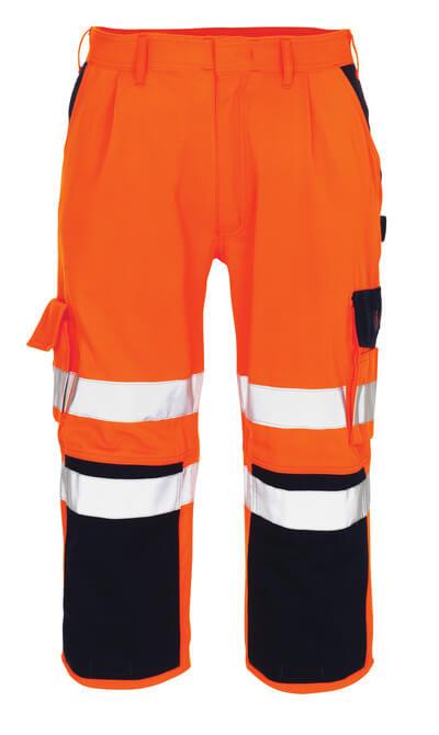 07149-860-141 ¾-housut polvitaskuilla - hi-vis oranssi/tummansininen