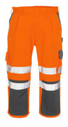 07149-860-14888 ¾-housut polvitaskuilla - hi-vis oranssi/antrasiitti