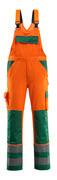 07169-860-1403 Avosuoja polvitaskuilla - hi-vis oranssi/vihreä