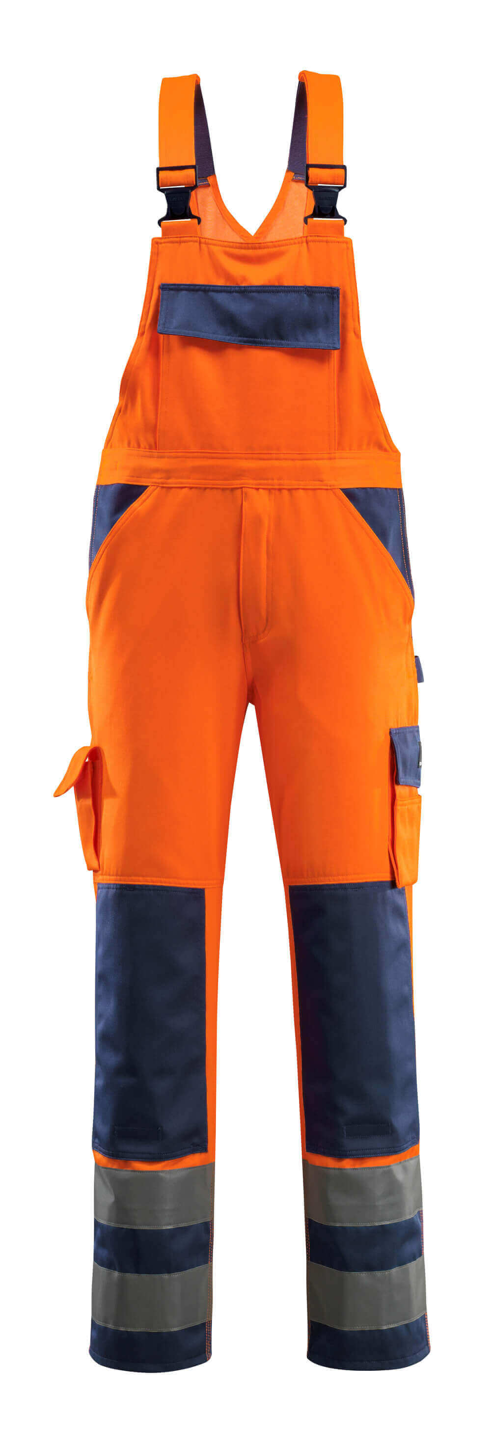 07169-860-141 Avosuoja polvitaskuilla - hi-vis oranssi/tummansininen