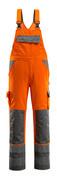 07169-860-14888 Avosuoja polvitaskuilla - hi-vis oranssi/antrasiitti