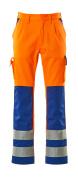 07179-860-1411 Housut polvitaskuilla - hi-vis oranssi/koboltinsininen
