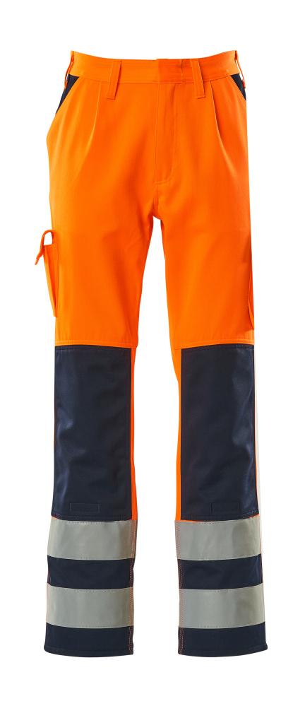 07179-860-141 Housut polvitaskuilla - hi-vis oranssi/tummansininen