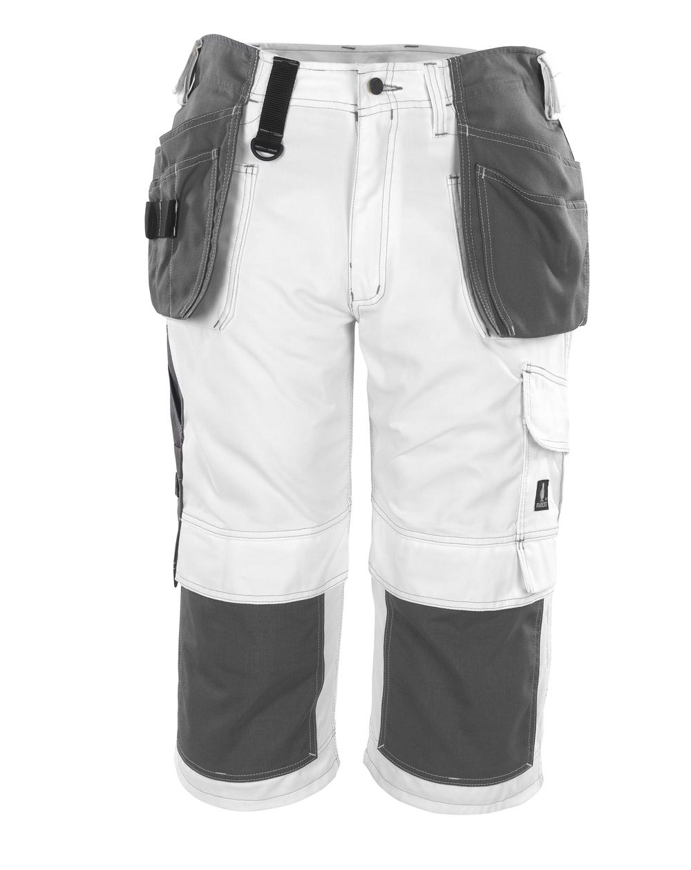 08349-154-06 ¾-housut polvi- ja riipputaskuilla - valkoinen