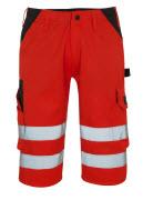 09049-860-A49 ¾-housut - hi-vis punainen/tumma antrasiitti