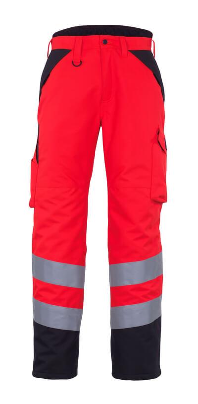 11090-025-A49 Talvihousut - hi-vis punainen/tumma antrasiitti