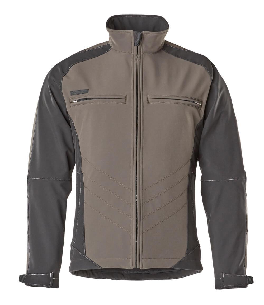 12002-149-1809 Softshell-takki - tumma antrasiitti/musta