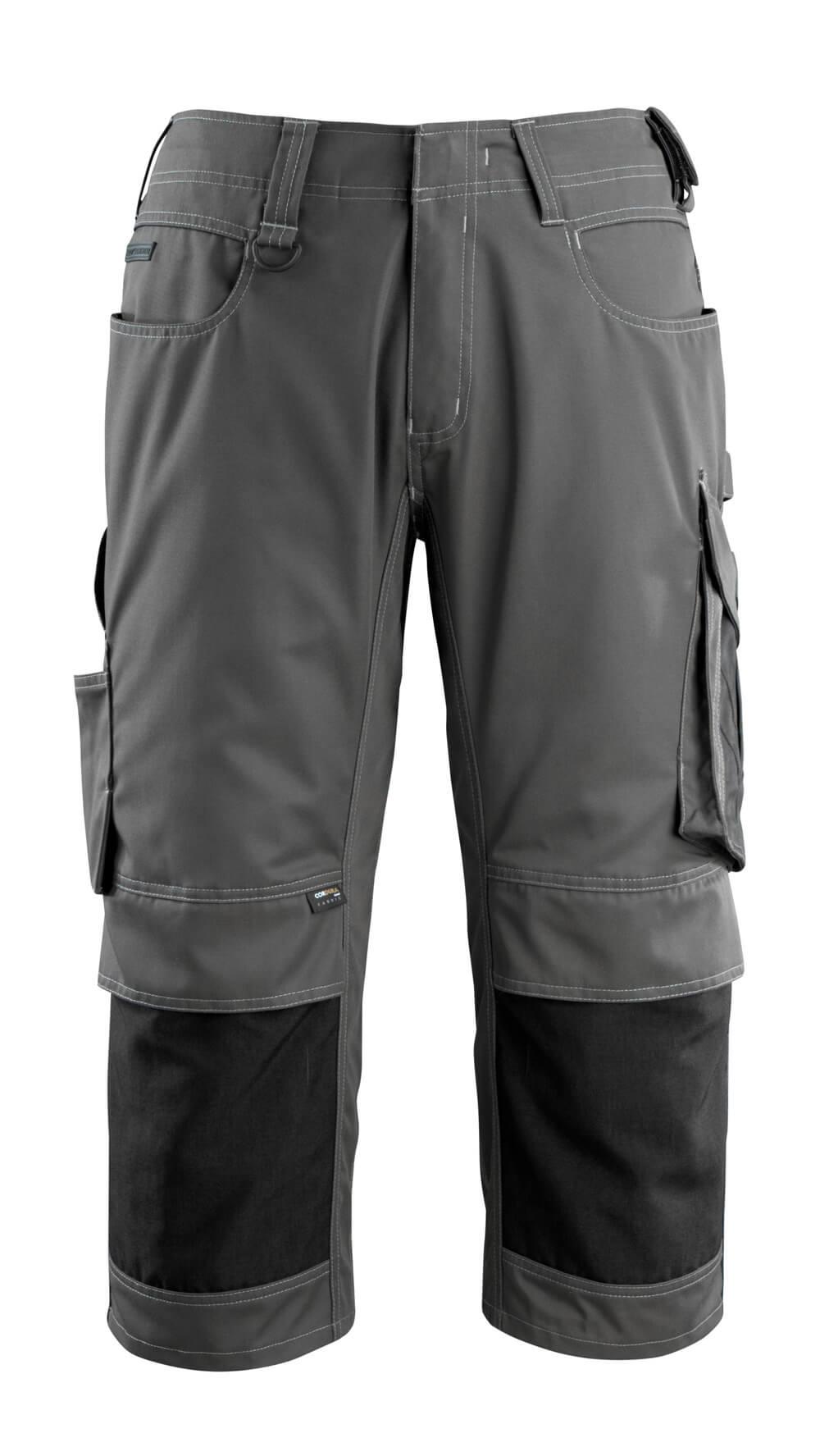 14149-442-1809 ¾-housut polvitaskuilla - tumma antrasiitti/musta