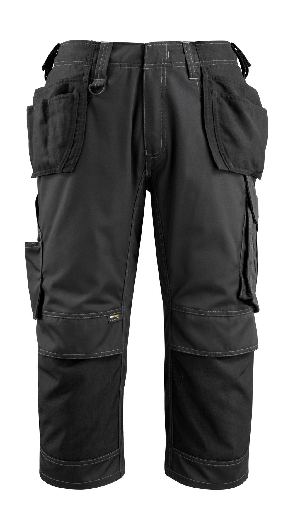 14449-442-09 ¾-housut polvi- ja riipputaskuilla - musta