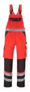 14969-860-A49 Avosuoja polvitaskuilla - hi-vis punainen/tumma antrasiitti