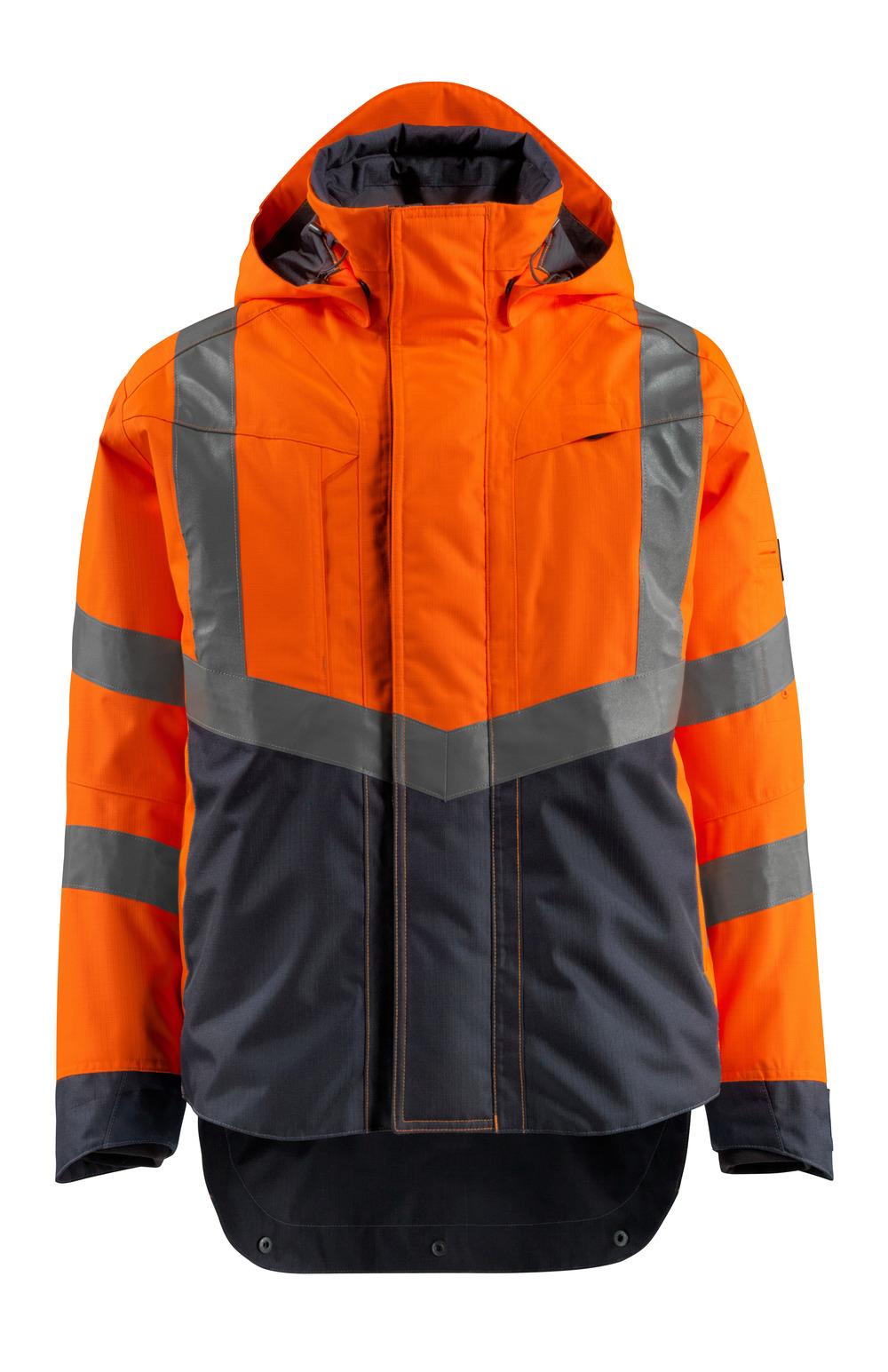 15501-231-14010 Kuoritakki - hi-vis oranssi/tumma laivastonsininen