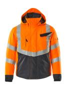 15535-231-14010 Talvitakki - hi-vis oranssi/tumma laivastonsininen