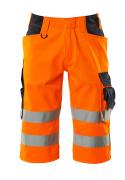 15549-860-14010 Shortsit, pitkät - hi-vis oranssi/tumma laivastonsininen