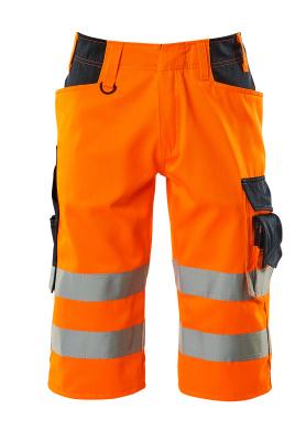 15549-860-14010 ¾-housut - hi-vis oranssi/tumma laivastonsininen