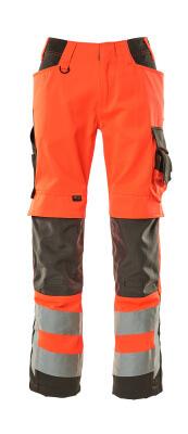 15579-860-14010 Housut polvitaskuilla - hi-vis oranssi/tumma laivastonsininen