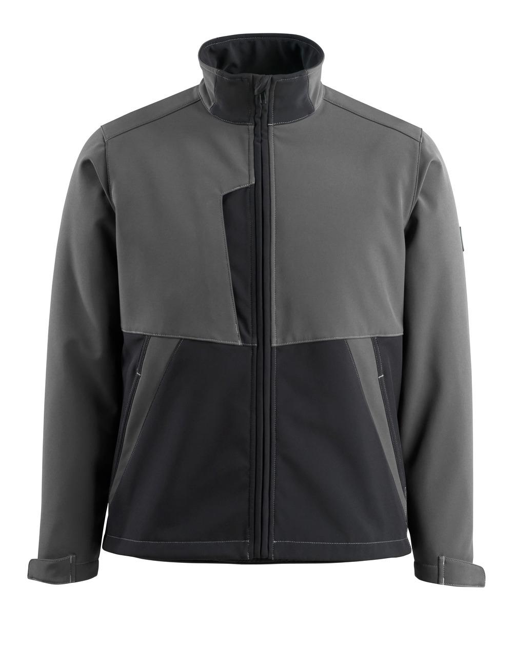 15702-253-1809 Softshell-takki - tumma antrasiitti/musta