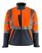 15902-253-14010 Softshell-takki - hi-vis oranssi/tumma laivastonsininen
