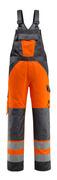 15969-948-1418 Avosuoja polvitaskuilla - hi-vis oranssi/tumma antrasiitti