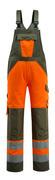 15969-948-1433 Avosuoja polvitaskuilla - hi-vis oranssi/sammaleenvihreä