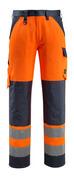 15979-948-14010 Housut polvitaskuilla - hi-vis oranssi/tumma laivastonsininen