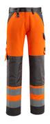15979-948-1418 Housut polvitaskuilla - hi-vis oranssi/tumma antrasiitti