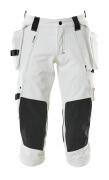 17049-311-06 ¾-housut polvi- ja riipputaskuilla - valkoinen