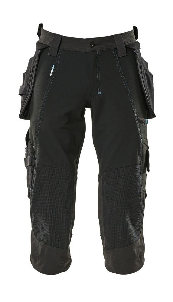 17049-311-09 ¾-housut riipputaskuilla - musta