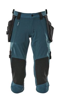 17049-311-010 ¾-housut polvi- ja riipputaskuilla - syvä tummansininen