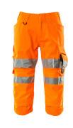 17549-860-14 ¾-housut polvitaskuilla - hi-vis oranssi