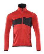 18003-316-20209 Fleecepusero lyhyellä vetoketjulla - punainen/musta