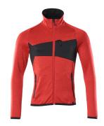 18103-316-20209 Fleecepusero vetoketjulla - punainen/musta