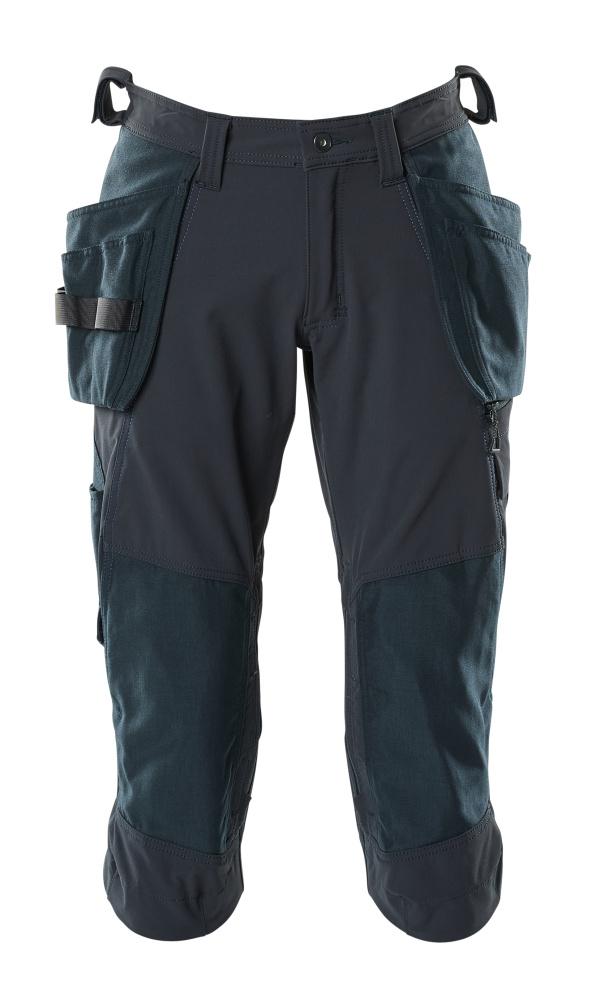18249-311-010 ¾-housut polvi- ja riipputaskuilla - syvä tummansininen