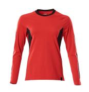 18391-959-20209 T-Paita, pitkähihainen - punainen/musta
