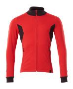 18484-962-20209 Swetari vetoketjulla - punainen/musta