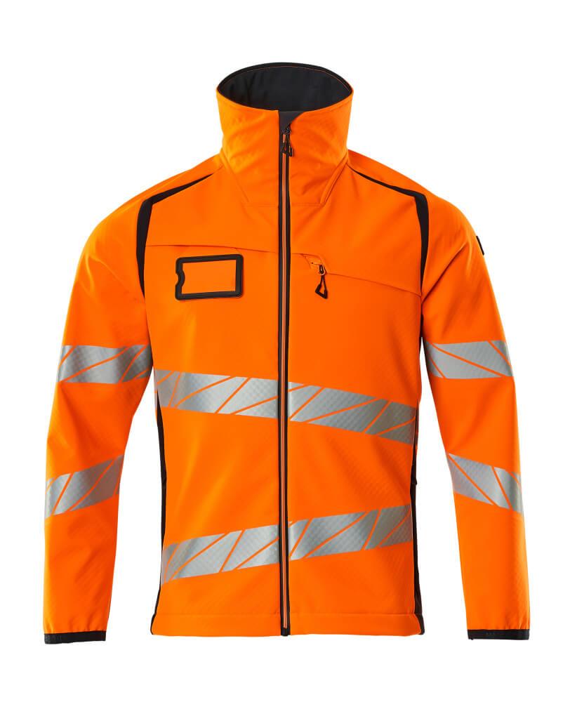 19002-143-14010 Softshell-takki - hi-vis oranssi/tumma laivastonsininen