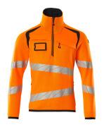 19005-351-14010 Neulepusero lyhyellä vetoketjulla - hi-vis oranssi/tumma laivastonsininen