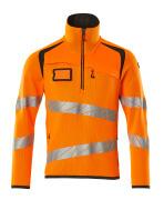 19005-351-1418 Neulepusero lyhyellä vetoketjulla - hi-vis oranssi/tumma antrasiitti