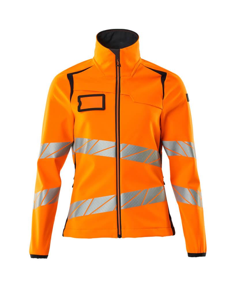 19012-143-14010 Softshell-takki - hi-vis oranssi/tumma laivastonsininen