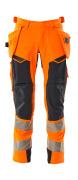 19031-711-14010 Housut riipputaskuilla - hi-vis oranssi/tumma laivastonsininen