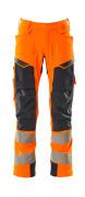 19079-511-14010 Housut polvitaskuilla - hi-vis oranssi/tumma laivastonsininen