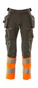 19131-711-01014 Housut riipputaskuilla - tumma laivastonsininen/hi-vis oranssi